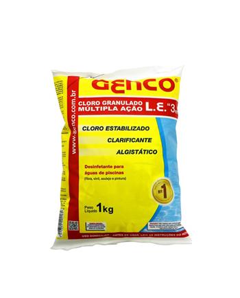 GENCO® L.E. - Cloro Granulado Múltipla Ação 3 em 1