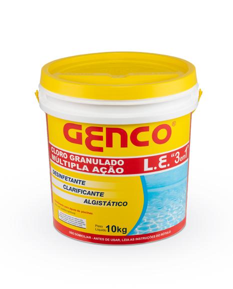 GENCO® L.E. Cloro Granulado Múltipla Ação 3 em 1